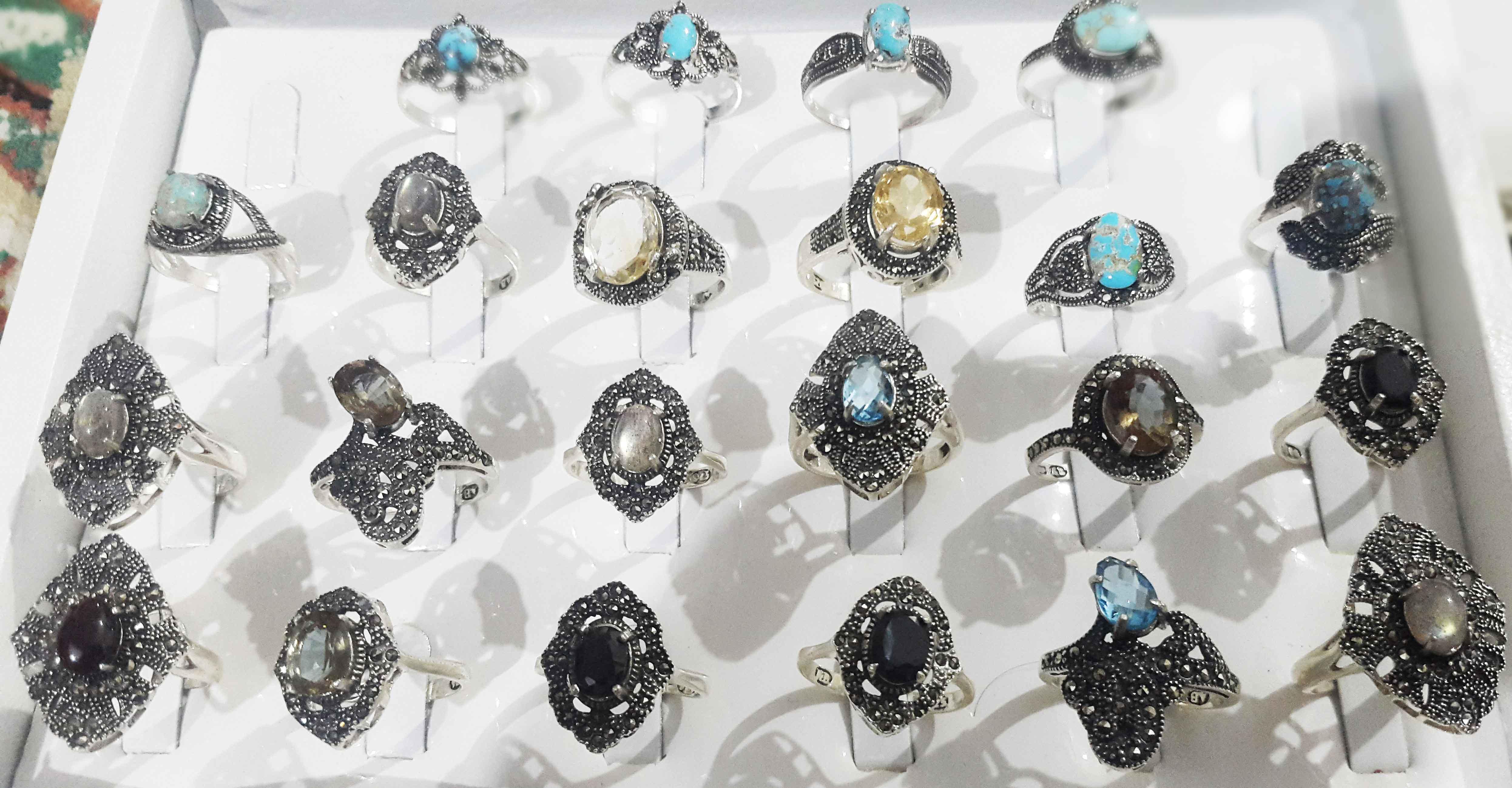 فروش- انگشترهای موکلدار- و سنگهای موکلدار